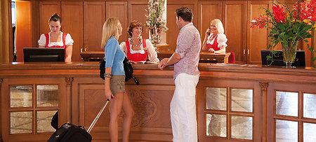 Hotellobby im Bayerischen Wald